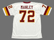 DEXTER MANLEY Washington Redskins 1982 Throwback NFL Football Jersey - BACK