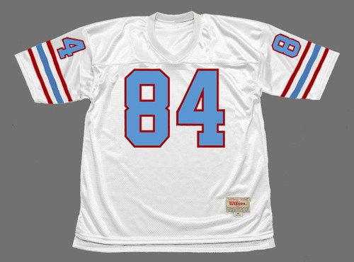 """BILLY """"WHITE SHOES"""" JOHNSON Houston Oilers 1977 Throwback NFL Football Jersey - FRONT"""