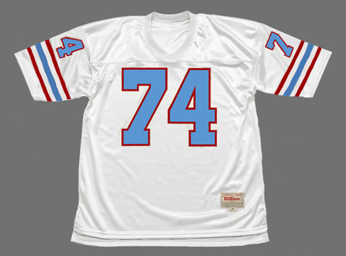 BRUCE MATTHEWS Houston Oilers 1988 Throwback NFL Football Jersey - FRONT