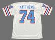 BRUCE MATTHEWS Houston Oilers 1988 Throwback NFL Football Jersey - BACK