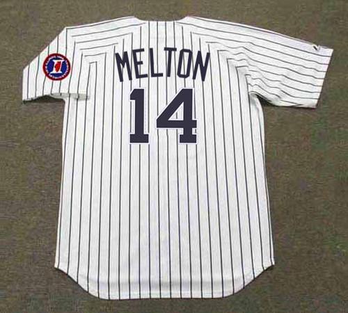 BILL MELTON Chicago White Sox 1968 Home Majestic Throwback Baseball Jersey - BACK