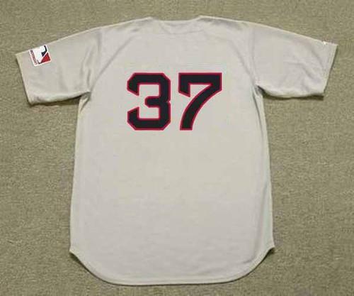 BILL LEE Boston Red Sox 1969 Away Majestic Throwback Baseball Jersey - BACK