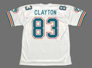 MARK CLAYTON Miami Dolphins 1989 Throwback NFL Football Jersey - BACK