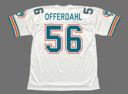 JOHN OFFERDAHL Miami Dolphins 1988 Throwback NFL Football Jersey - BACK