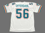 JOHN OFFERDAHL Miami Dolphins 1988 Throwback NFL Football Jersey - BACK