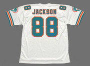 KEITH JACKSON Miami Dolphins 1994 Throwback NFL Football Jersey - BACK