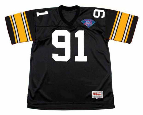 KEVIN GREENE Pittsburgh Steelers 1994 Throwback Home NFL Football Jersey - FRONT