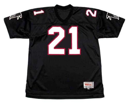 DEION SANDERS Atlanta Falcons 1991 Home Throwback NFL Football Jersey - FRONT