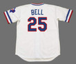 BUDDY BELL Texas Rangers 1984 Home Majestic Throwback Baseball Jersey - BACK