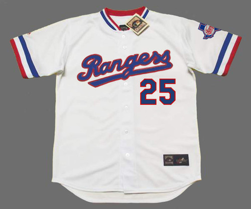 BUDDY BELL Texas Rangers 1984 Home Majestic Throwback Baseball Jersey - FRONT