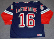 PAT LAFONTAINE New York Rangers 1997 CCM Throwback Alternate NHL Jersey - BACK