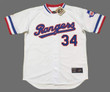 NOLAN RYAN Texas Rangers 1980's Home Majestic Throwback Baseball Jersey - FRONT