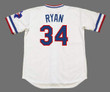 NOLAN RYAN Texas Rangers 1980's Home Majestic Throwback Baseball Jersey - BACK