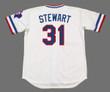 DAVE STEWART Texas Rangers 1984 Home Majestic Throwback Baseball Jersey - BACK