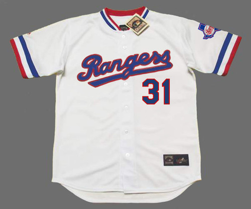DAVE STEWART Texas Rangers 1984 Home Majestic Throwback Baseball Jersey - FRONT