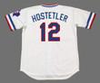 DAVE HOSTETLER Texas Rangers 1984 Home Majestic Throwback Baseball Jersey - BACK