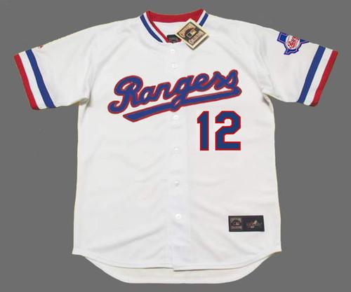 DAVE HOSTETLER Texas Rangers 1984 Home Majestic Throwback Baseball Jersey - FRONT