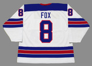 ADAM FOX 2018 USA Nike Throwback Hockey Jersey - BACK