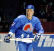1992 Quebec Nordiques Away CCM Throwback ADAM FOOTE NHL hockey jersey - ACTION