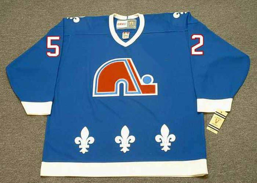 1992 Quebec Nordiques Away CCM Throwback ADAM FOOTE NHL hockey jersey - FRONT