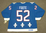 1992 Quebec Nordiques Away CCM Throwback ADAM FOOTE NHL hockey jersey - BACK