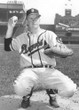 DEL CRANDALL Milwaukee Braves 1955 Away Majestic Throwback Baseball Jersey - ACTION