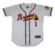 DEL CRANDALL Milwaukee Braves 1955 Away Majestic Throwback Baseball Jersey - FRONT