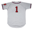 DEL CRANDALL Milwaukee Braves 1955 Away Majestic Throwback Baseball Jersey - BACK