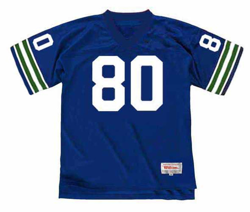 STEVE LARGENT Seattle Seahawks 1981 Throwback NFL Football Jersey - FRONT