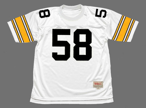 JACK LAMBERT Pittsburgh Steelers 1975 Throwback Away NFL Football Jersey - FRONT