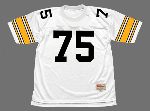 JOE GREENE Pittsburgh Steelers 1975 Away NFL Football Throwback Jersey - FRONT