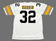 FRANCO HARRIS Pittsburgh Steelers 1975 Throwback Away NFL Football Jersey - BACK