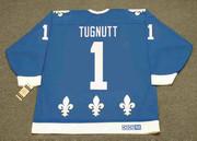 RON TUGNUTT Quebec Nordiques 1989 CCM Throwback NHL Hockey Jersey - BACK