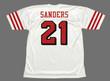 DEION SANDERS San Francisco 49ers 1994 Throwback Away NFL Football Jersey - BACK