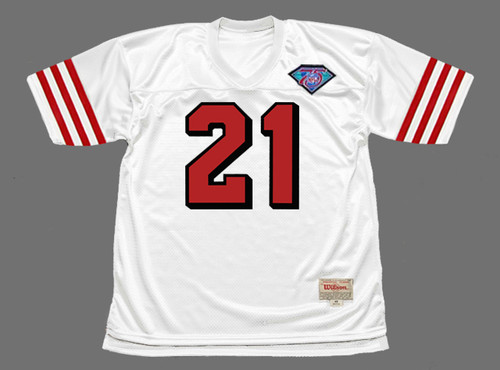 DEION SANDERS San Francisco 49ers 1994 Throwback Away NFL Football Jersey - FRONT