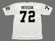 JOHN MATUSZAK Oakland Raiders 1976 Throwback Away NFL Football Jersey - BACK