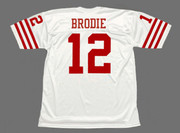 JOHN BRODIE San Francisco 49ers 1973 Throwback Away NFL Football Jersey - BACK
