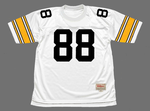 LYNN SWANN Pittsburgh Steelers 1975 Throwback Away NFL Football Jersey - FRONT