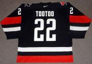 JORDIN TOOTOO Team Canada 2003 Nike Throwback Alternate Hockey Jersey - BACK