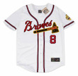 BOB UECKER Milwaukee Braves 1962 Home Majestic Throwback Baseball Jersey - FRONT