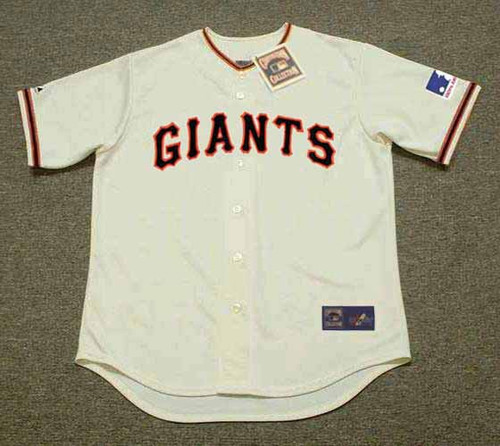 WILLIE MAYS San Francisco Giants 1969 Home Majestic Throwback Baseball Jersey - FRONT