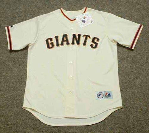 BARRY BONDS San Francisco Giants 2006 Home Majestic Throwback Baseball Jersey - FRONT