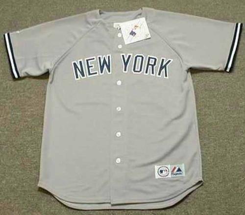 DEION SANDERS New York Yankees 1990 Away Majestic Throwback Baseball Jersey - FRONT