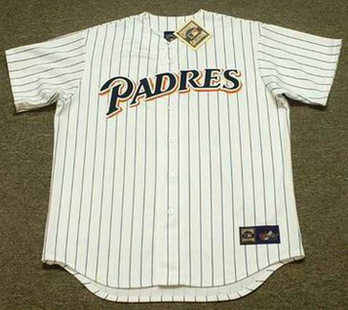 BENITO SANTIAGO San Diego Padres 1991 Home Majestic Throwback Baseball Jersey - FRONT
