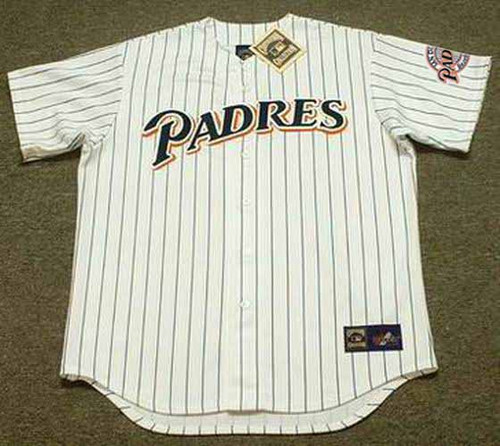 BIP ROBERTS San Diego Padres 1994 Home Majestic Throwback Baseball Jersey - FRONT