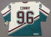 CHARLIE CONWAY Anaheim Mighty Ducks CCM NHL Throwback Hockey Jersey - BACK