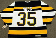 ANDY MOOG 1992 CCM NHL Throwback Boston Bruins Jerseys - BACK