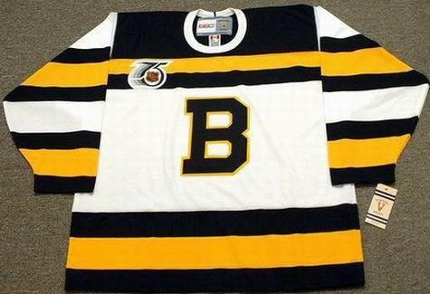 ANDY MOOG 1992 CCM NHL Throwback Boston Bruins Jerseys - FRONT