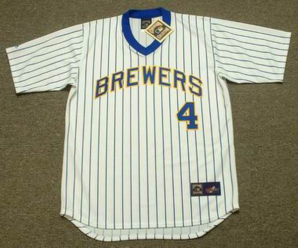 buy popular 6789b 3a652 PAUL MOLITOR Milwaukee Brewers 1984 Majestic Cooperstown Throwback Home  Jersey