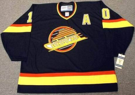 PAVEL BURE Vancouver Canucks 1994 Away CCM NHL Vintage Throwback Jersey - FRONT